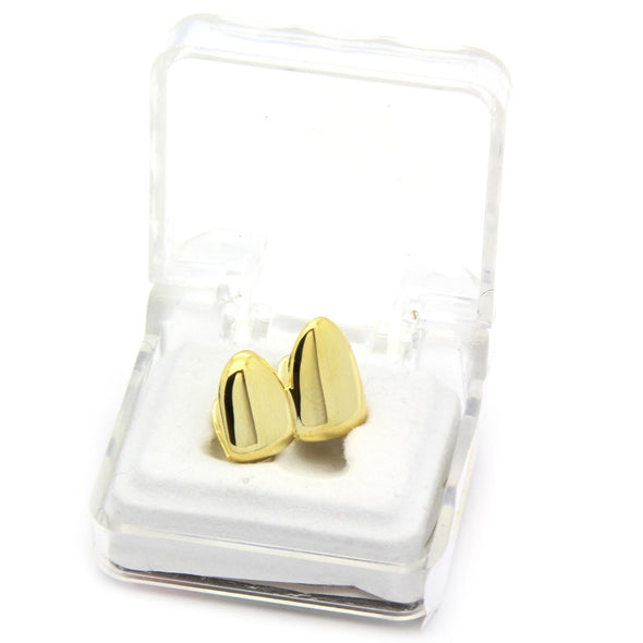 Gold Plated Grillz - Double Cap - Gold Teeth - Gold Grillz - Rois D'or