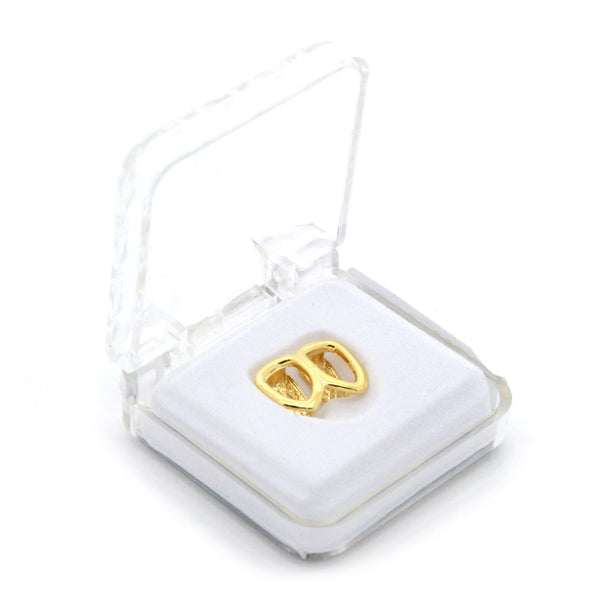 Gold Plated Grillz - Double Hollow Cap