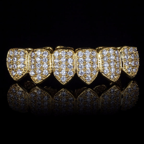 Gold Plated High Quality CZ Bottom Grillz