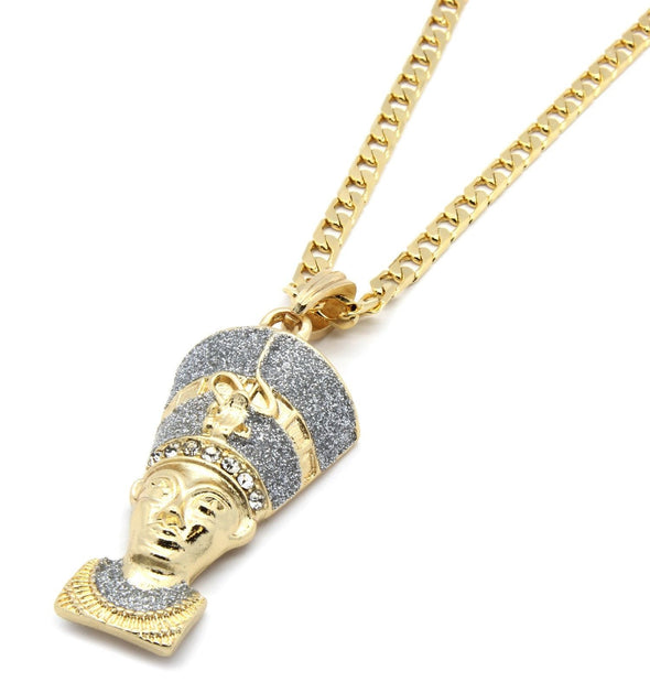 Gold Plated Pharaoh Pendant - Gold Teeth - Gold Grillz - Rois D'or