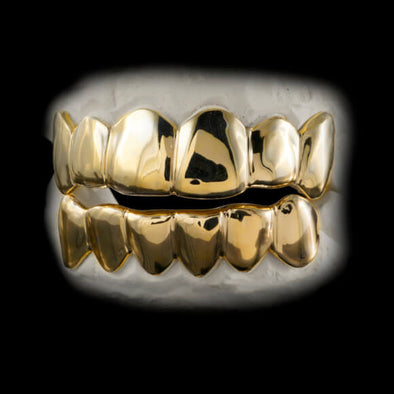 [CUSTOM GRILLZ] Solid Gold Grillz - Gold Teeth - Gold Grillz - Rois D'or