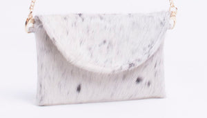 Cowhide Susie Envelope  Clutch