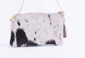 Cowhide Lucy Clutch Large