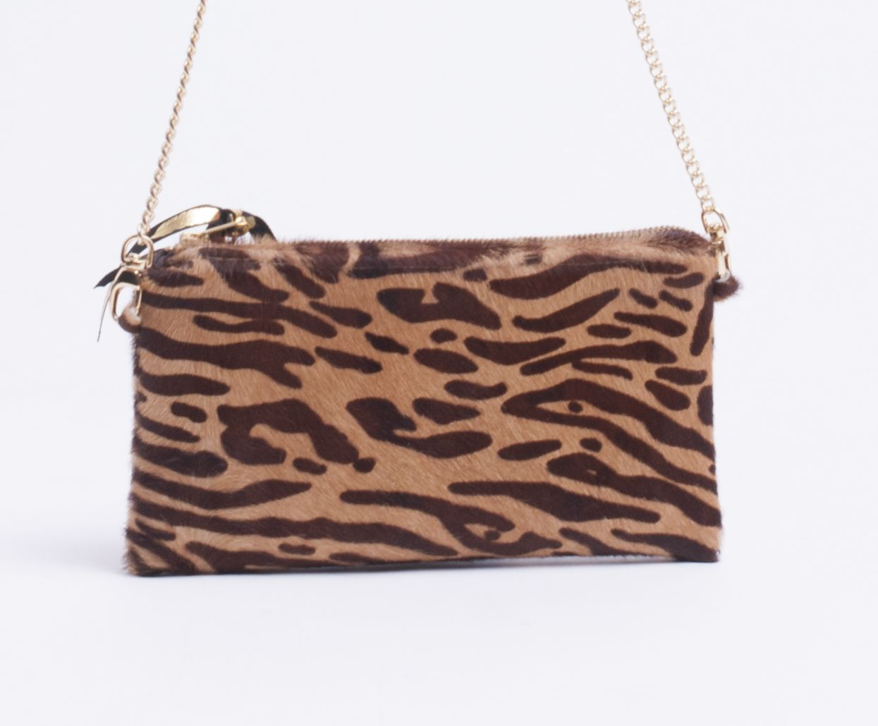 Cowhide Lucy Clutch - Large