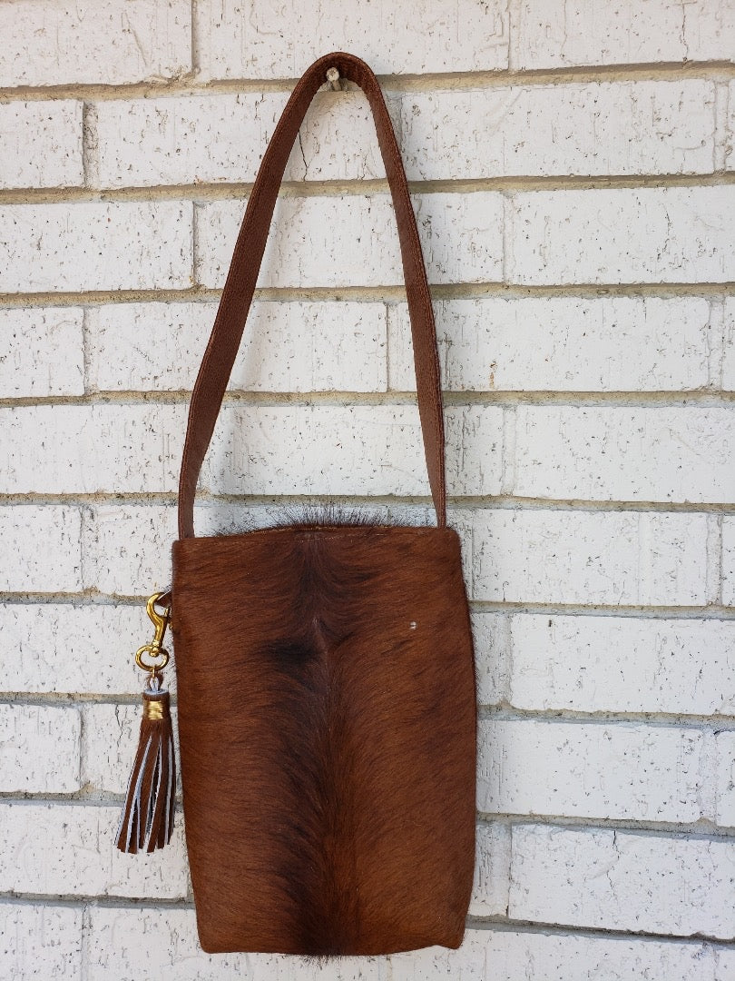 Mini Mary Cowhide Tote Bag