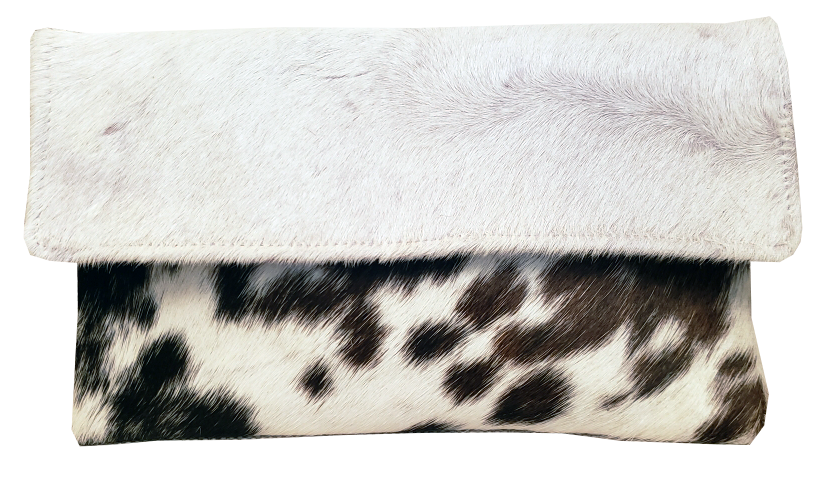 Lucy Cowhide Clutch
