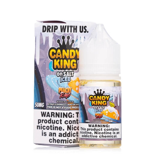 Candy King On Salt Iced Peachy Rings Ejuice-UVD