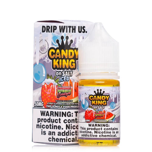 Candy King On Salt Iced Strawberry Watermelon Bubblegum Ejuice-UVD