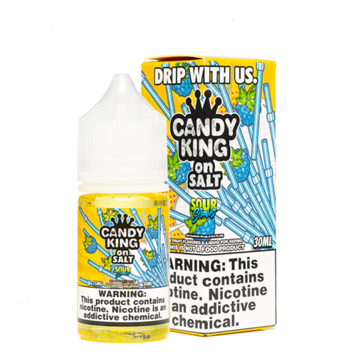 Candy King on Salt Sour Straws Ejuice | UVD