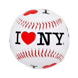 I Love New York Baseball- Black and White