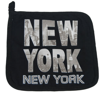 New York Black and White Pot Holder