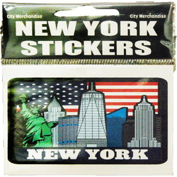 New York Skyline Sticker with all Famous Buildings