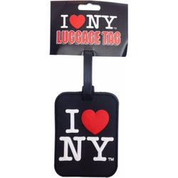 I Love New York Luggage Tag- Black, White and Pink
