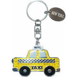 New York Cities Famous Yellow Taxi Keychain