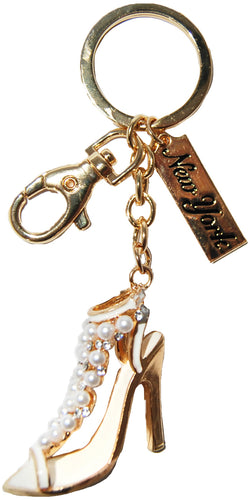 New York High Heel Rhinestone Keychain