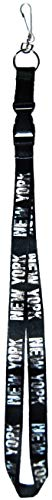 New York Black and White Lanyard Badge Holder