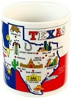 Texas Mug - State Map, Texas Coffee Mugs, Texas Souvenirs, Texas Souvenir