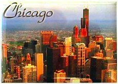 Chicago Magnet - Skyline, Chicago Magnets, Chicago Souvenirs, Chicago Souvenir