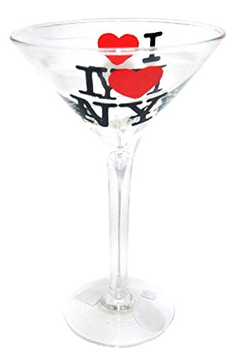 I Love New York Souvenir Novelty Martini Glass