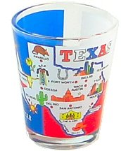 Texas State Map Shot Glass, Texas Shot Glasses, Texas Souvenirs, TX Souvenir