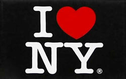 I Love New York Jumbo Black Magnet, New York Magnets, NYC Souvenirs, Fridge Magnets, NY Magnet