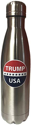 CityDreamShop Donald Trump Patriotic USA Stainless Steel Water Bottle Double Walled Vacuum Insulated Outdoor
