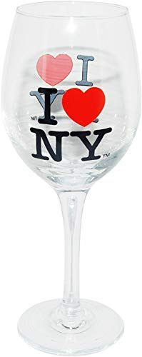 I Love New York Souvenir Novelty Champagne Glass