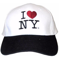 White I Love NY hat