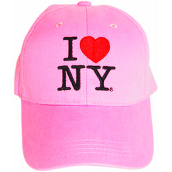 I Love NY hot pink hat