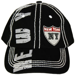 Black and Grey New York Baseball Cap