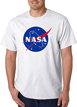 Gildan NASA Meatball Logo White T-Shirts (X Large, White)