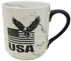 USA Coffee Mug with USA Flag & Eagle Design for Men & Women | American Marble Coffee Mug | Perfect Souvenir Gift Collection for People Loves America
