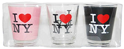 I Love NY Shot Glass, 3 Piece