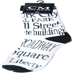 New York Socks with Famous New York Places