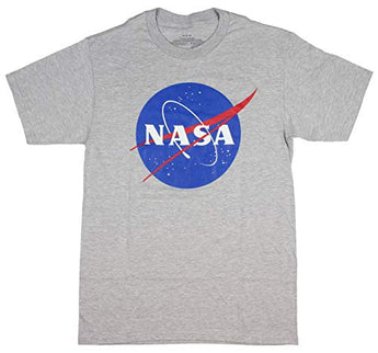 NASA Logo Gray T-Shirts (Large, Gray)