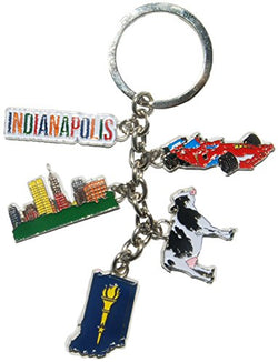 Indianapolis 5 Charm Keychain- featuring Indy 500
