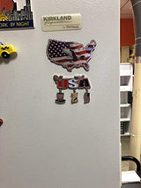 USA Patriotic American Themed Dangle Magnet- Featuring American Flag, Bald Eagle and the Declaration of Independence