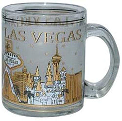 Welcome to Fabulous Las Vegas City Skyline Souvenir Heavy Solid Base 11 oz Black Gold Coffee Mug