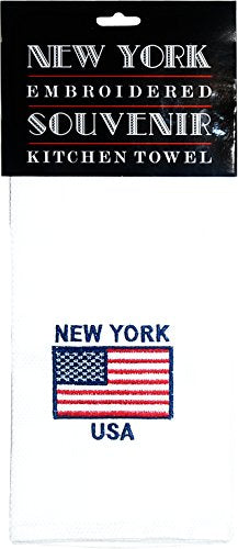 American Flag New York USA Kitchen Towel. Patriotic Kitchenware Product