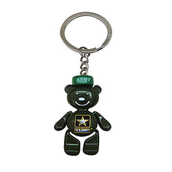 CityDreamShop The United States Army Souvenir Metal Durable Novelty Cute Smiling Bear Keychain