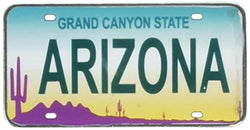 Arizona License Plate Replica Metal Magnet