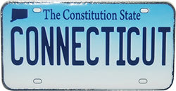 Connecticut License Plate Replica Metal Magnet