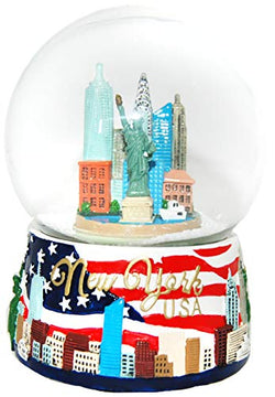 Collection of City and States Detailed 65mm Snow Globes (New York City Skyline)