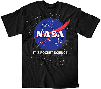 Nasa It Is Rocket Science Logo Youth T-Shirt (Medium)