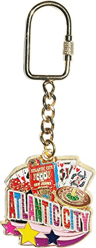 Atlantic City Casino Themed Gold Plated Keychain