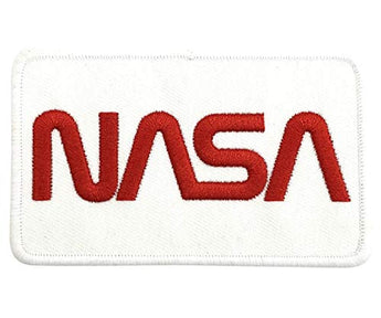 NASA Embroidered Souvenir Patch Iron on White Red Badge for Unisex Men, Women & Kids | Perfect Gift for NASA & Space Lover | Perfect Souvenir Gift Collection