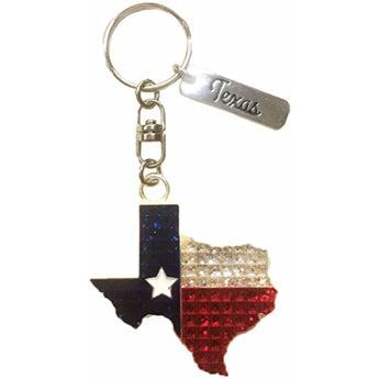 American Cities and States Metal Quality Keychains (Texas Diamond)