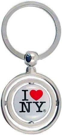 I Love New York Double Spinner Keychain, New York Keychains, NYCity Souvenirs, NY Keychain