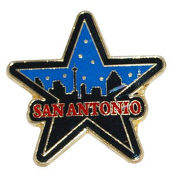 San Antonio Skyline Refrigerator Magnet Shaped Like a Classic Texas Star