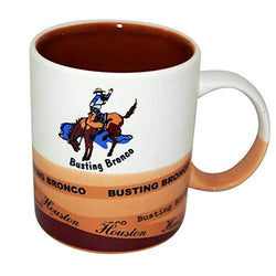 Houston City 11oz 3 Tone Matte Busting Bronco Durable Heavy Solid Base Ceramic Coffee Mug